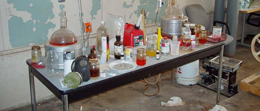 cleaning up home meth lab